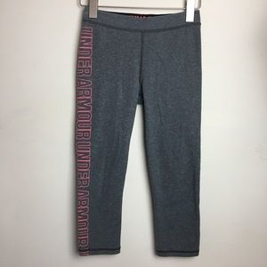 Under Armour XS Fitted Crop Pant Athletic Leggings